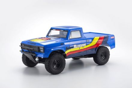 OUTLAW RAMPAGE 1:10 EP 2WD TRUCK (KT231P) T2 BLUE READYSET